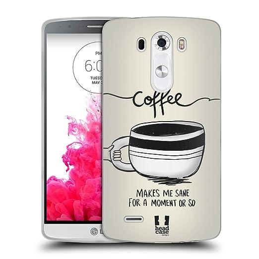 2 opinioni per Head Case Designs Sane Caffeinomani Cover Morbida In Gel Per LG G3 / D855 / D850