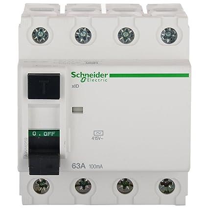 Schneider Acti 9 63-Amp 4-Pole 100Ma Rccb