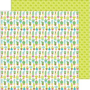 DOODLEBUG FS Fun in The Sun Paper 12x12 Cactus Garden
