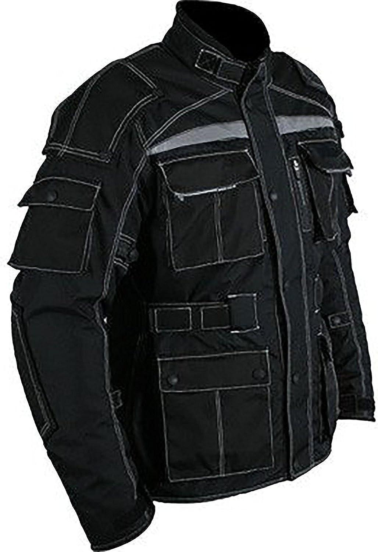 Juicy Trendz Herren Motorradjacke Textil Bikerjacke Wasserdicht Motorrad Jacke Wit Protektoren Bekleidung