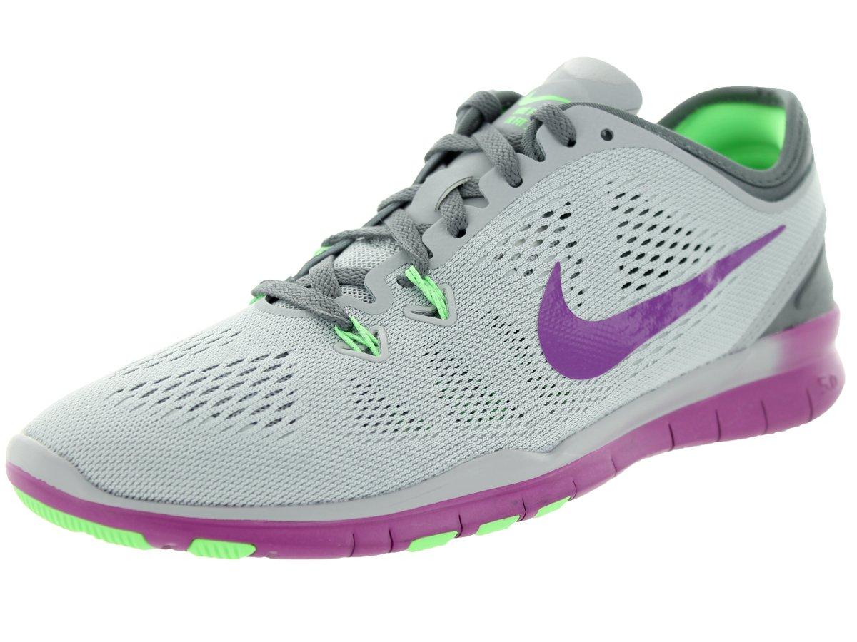 NIKE Men's Free 5.0 Tr Fit 5 Fabric Running Shoe B00VIRS1YQ 8.5 B(M) US|Wolf Grey/Voltage Green/Vivid Purple
