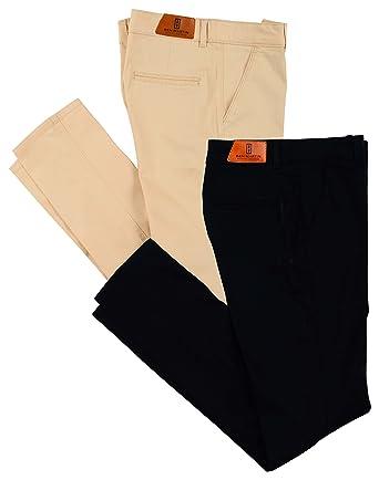 Ben Martin Men s Regular Fit Cotton Trousers (Combo of 2)  Amazon.in ... cbe21cef4838c