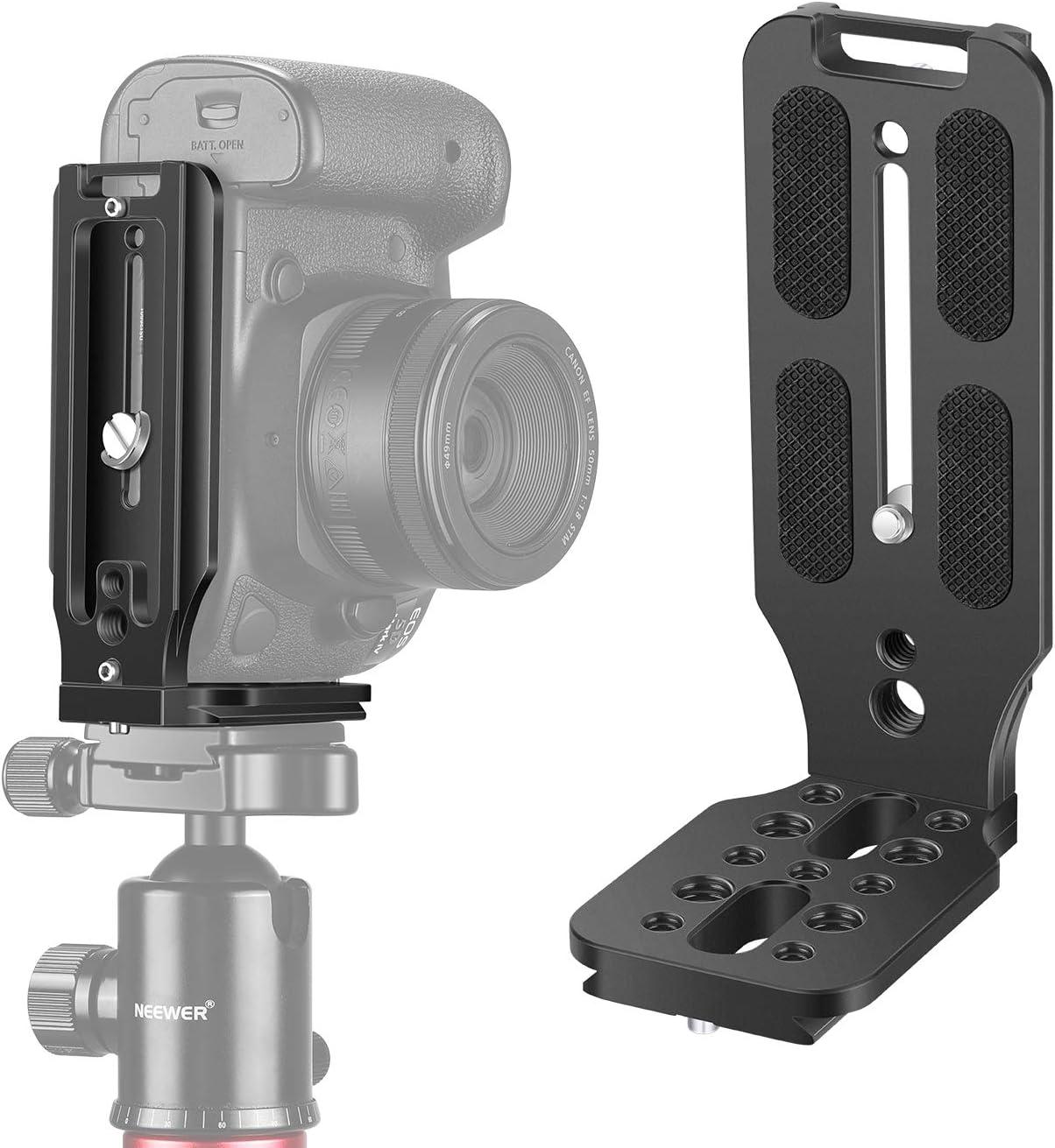 cam/éscopes DV Fotover Support horizontal pour flash dappareil photo avec griffe et vis coulissante de 6,35 mm pour appareil photo reflex num/érique