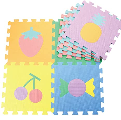 Meitoku Alfombra de Goma EVA para niños con puzle. 9 alfombras de 30 x 30. Pasa ...