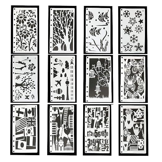 YXJD 12 Piezas De Plantillas De Dibujo para Pintar para Hojas ...