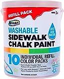 RoseArt Sidewalk Chalk Paint Bucket Refill 10ct