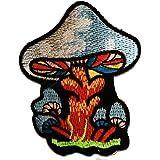 Ecusson - Magic Mushroom champignon - coloré - 6x7,7cm - patches brode appliques embroidery thermocollant