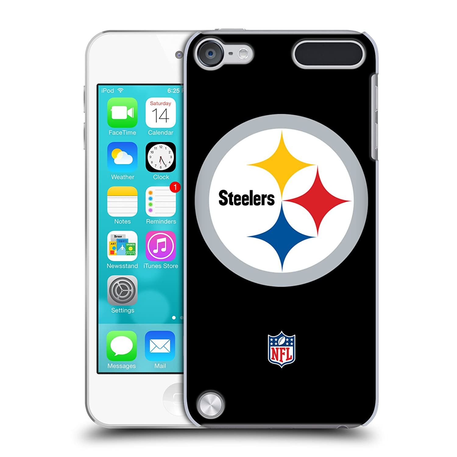 Official NFL Plain Pittsburgh Steelers Logo Hard Back Case for iPod Touch 5th Gen / 6th Gen HC-TOUCH5G-NFLLOPIT-PLA