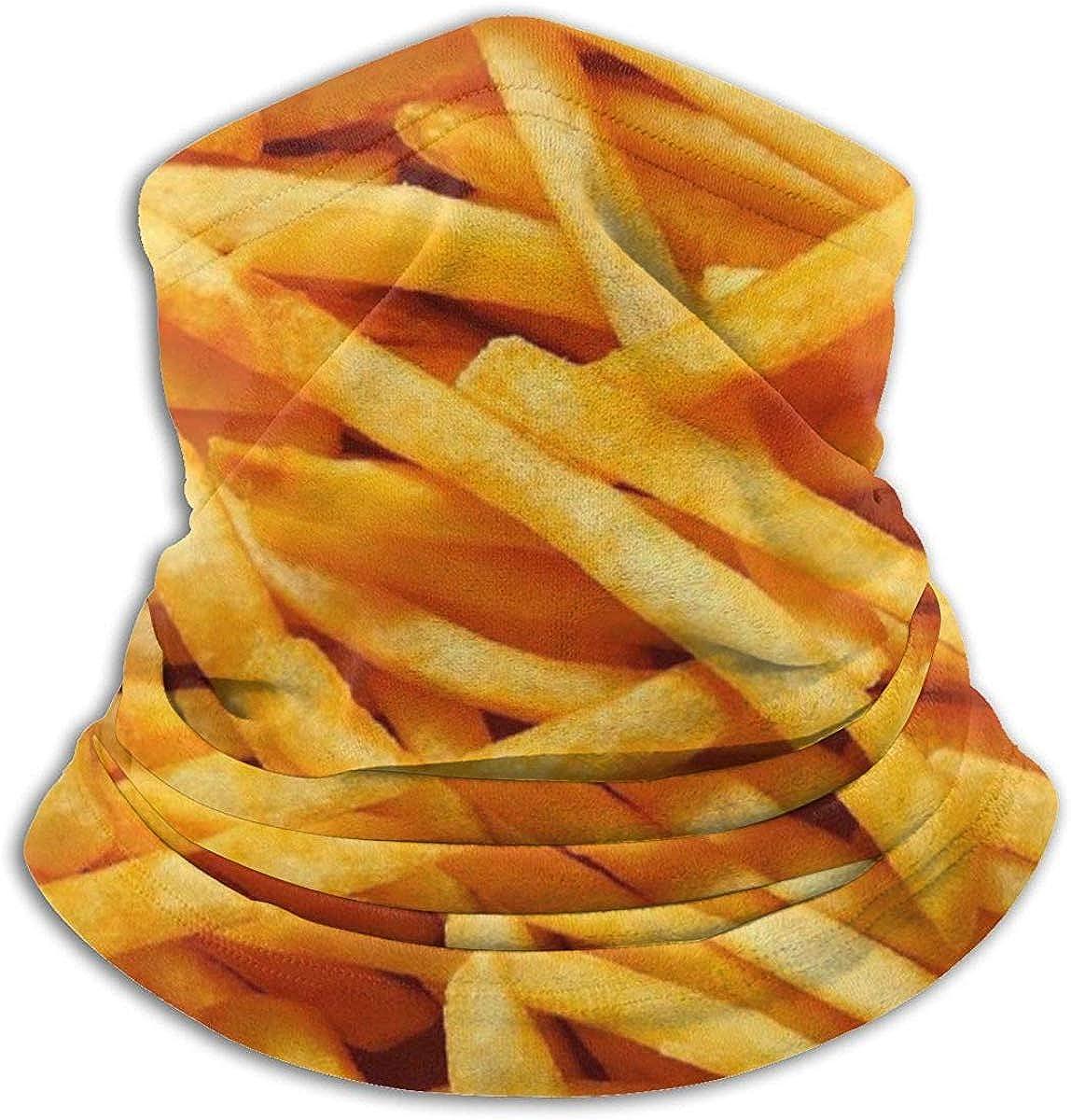 Osmykqe Pommes frites lustige Muster Nackenw/ärmer Gamasche Sturmhaube Ski Maske Winter H/üte Kopfbedeckungen f/ür M/änner Frauen schwarz