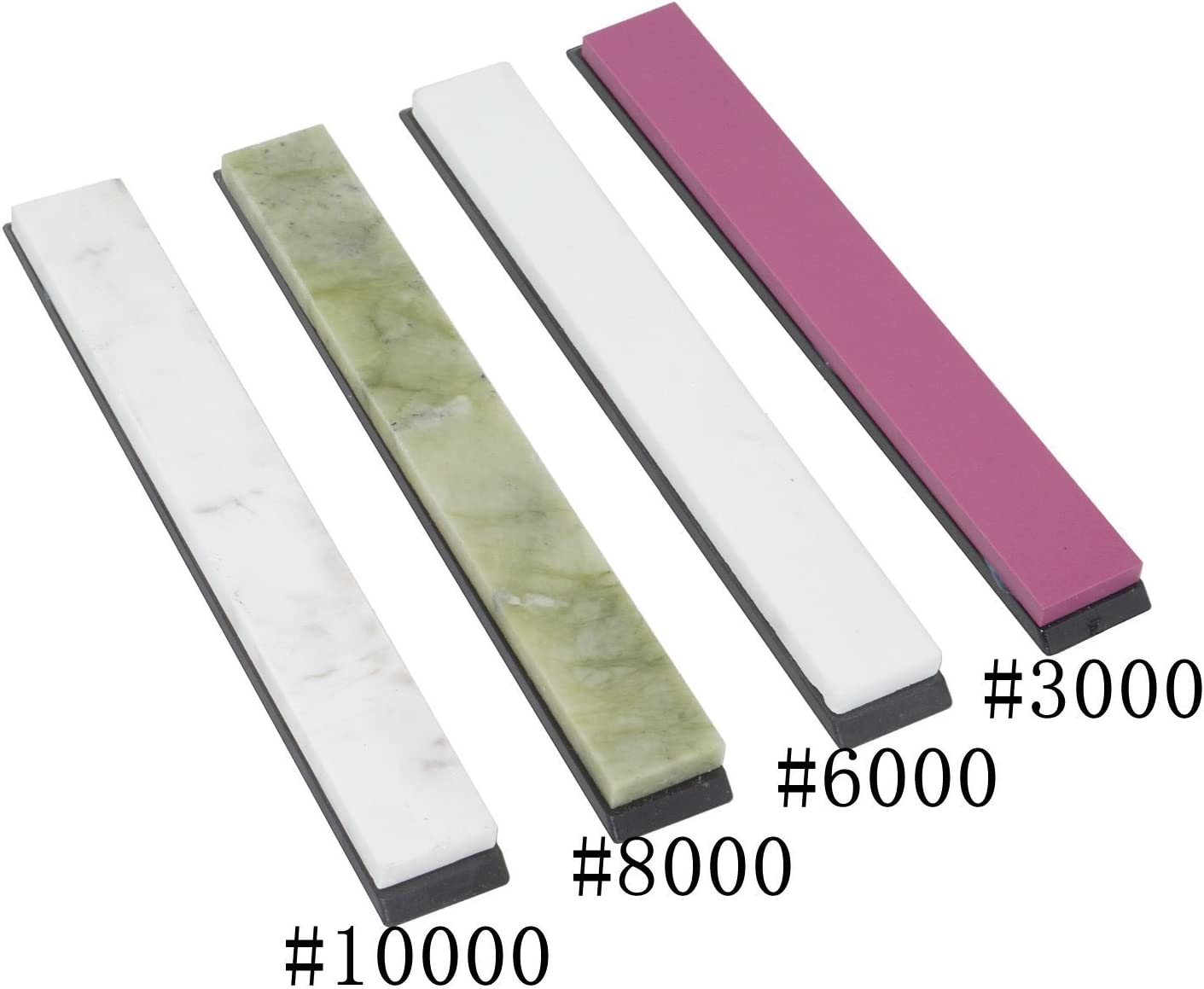 4er Set #3000 #6000 #8000 #10000 /Ölsteinsch/ärfer mit Sockel Messersch/ärfsteine Wetzstein-Set 15/x/2/x/0,5/cm ca