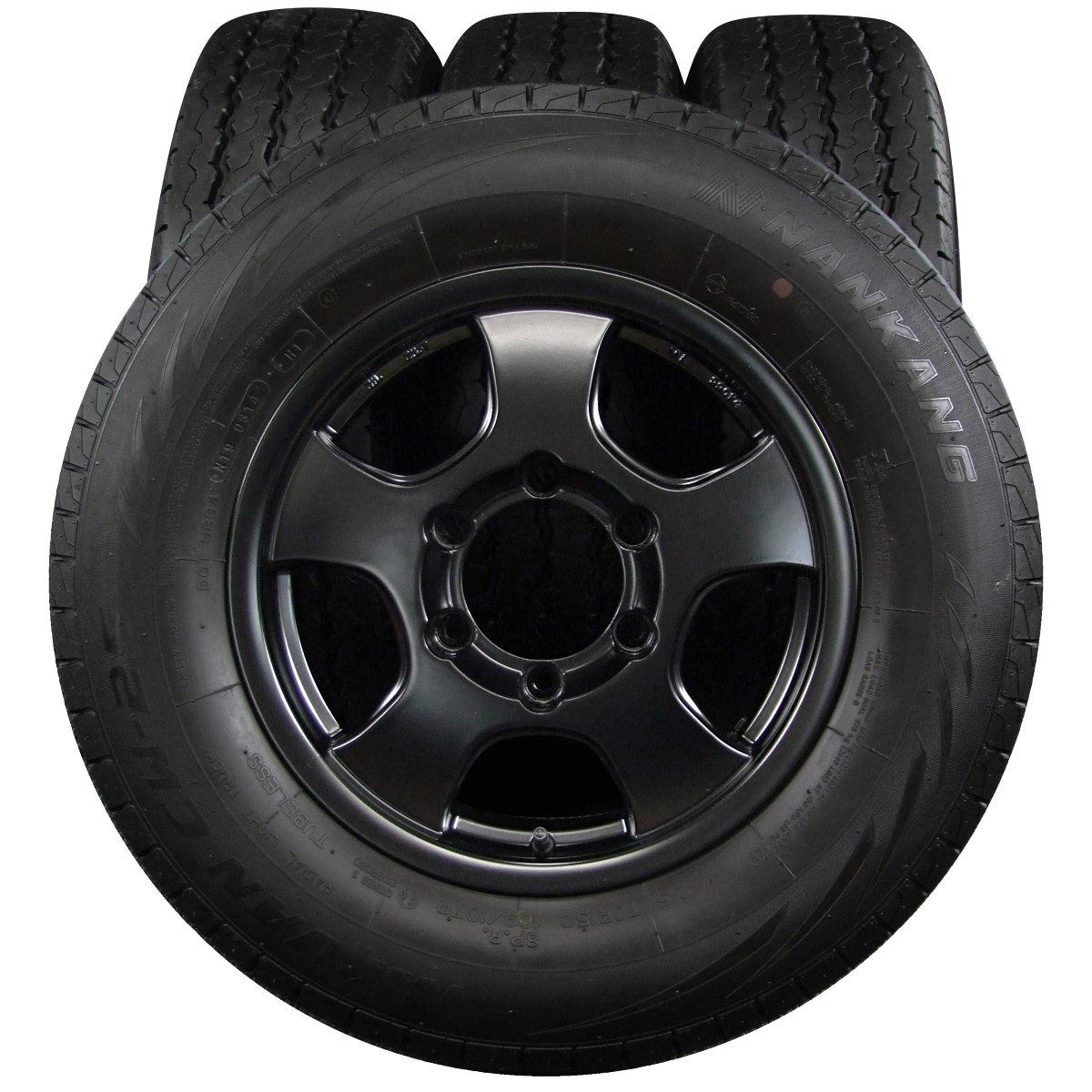 15インチ 4本セット タイヤ&ホイール NANKANG (ナンカン) NK VAN CW-25 215/70R15 109/107R 8PR 東京車輪 STING ALPHA 15×6J(+33)139.7-6H B072XDD54Z