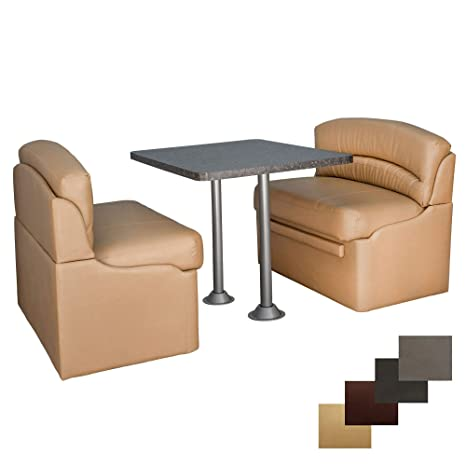 Brilliant Recpro 40 Rv Dinette Booth Set With Table And 2 Surface Mount Legs Two Dinette Booths Toffee Granite Chocolate Inzonedesignstudio Interior Chair Design Inzonedesignstudiocom
