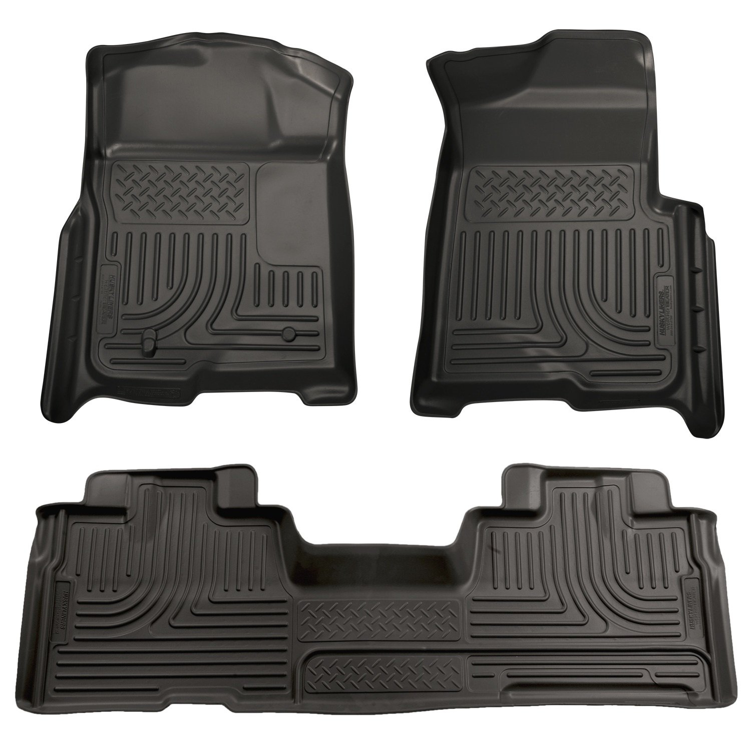 Amazon com husky liners front 2nd seat floor liners fits 09 14 f150 supercab automotive