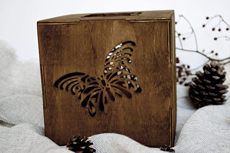 Rustikale Holz Kerzehalter Teelicht Schmetterling Hochzeit ...