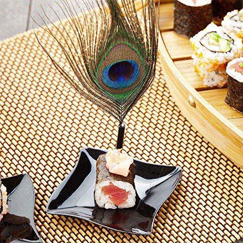 Peacock Eye Skewer, Peacock Feather Eye Pick - 4'', Natural - 500ct Box - Restaurantware by Restaurantware (Image #5)