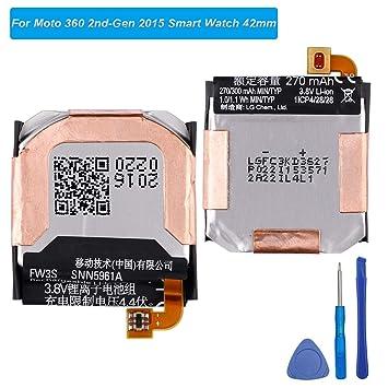 E-yiviil - Batería de Repuesto FW3S Compatible con Moto 360 ...