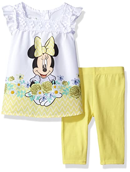 75f222efa Image Unavailable. Image not available for. Color: Disney Girls' 2-Piece Minnie  Mouse Legging Set, Yellow ...