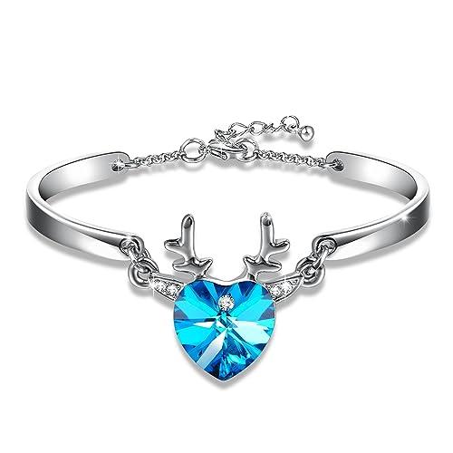 96e3289da89c GEORGE · SMITH Pulsera de corazón Azul Morado con Cristales de Swarovski