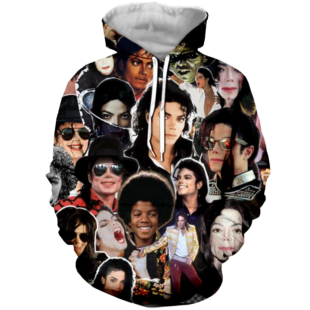 YX GIRL Unisex 3D Print Michael Jackson Hoodies Pockets Hoodies Hip hop Sweatshirts (XS, Michael Jackson)