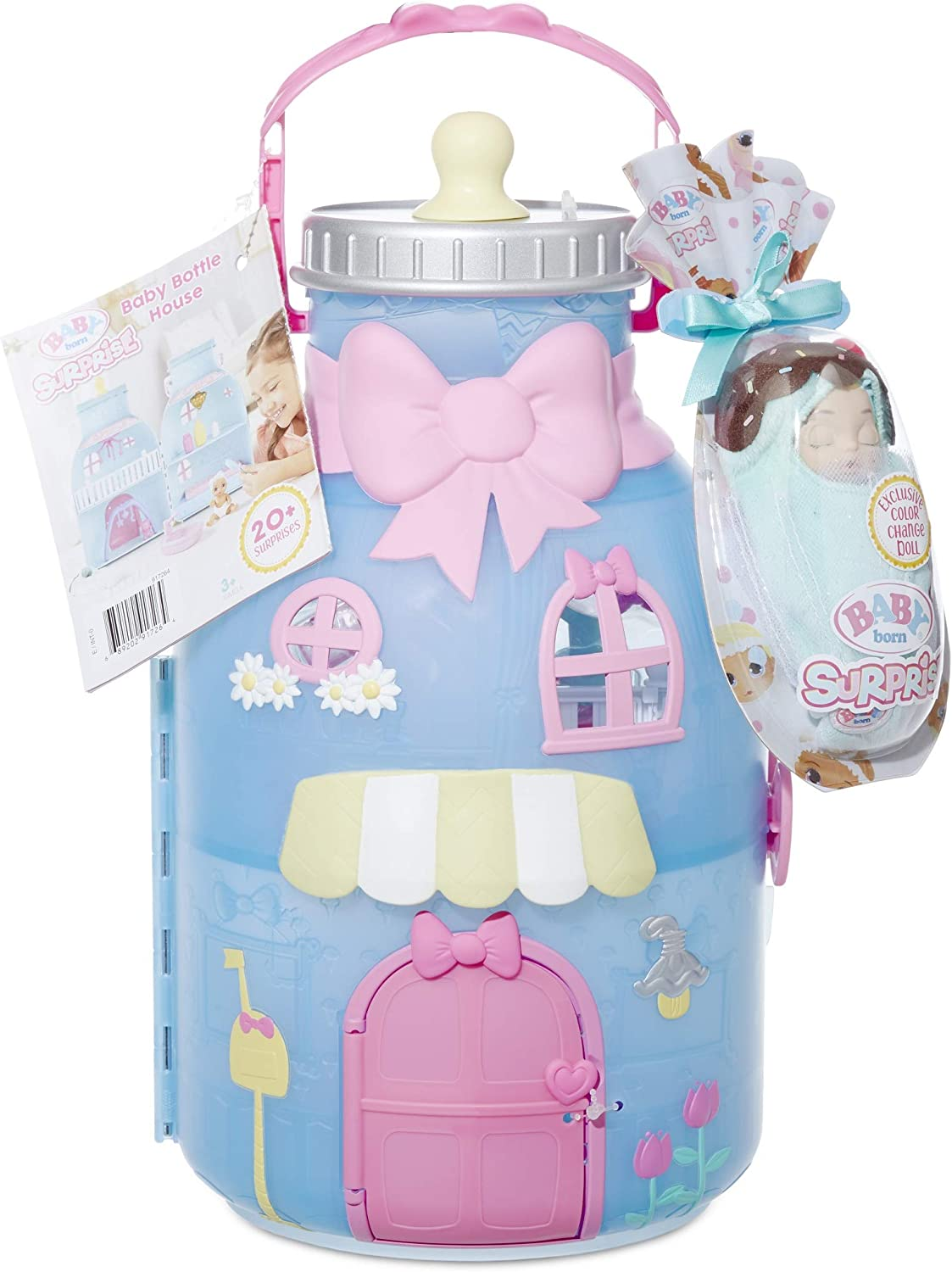 dolls house baby bottle rattle and dummy