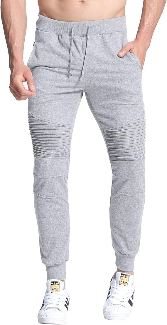 StyleDome Hombre Pantalones Largos Deportivos Chándal Algodón ...