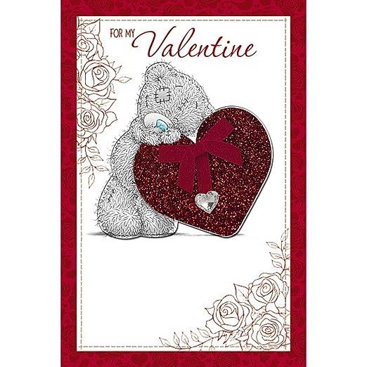 Me to You Bear lujo amor corazón Gem para mi Tarjeta del día ...