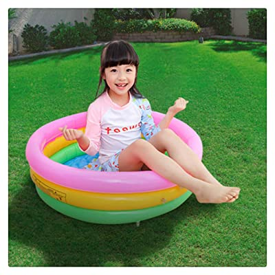 Inflatable Swimming Pools,Family Swimming Pool,Inflatable Rainbow Kiddie Pool,Summer Fun Swim Pool for Kids with Inflatable Soft Floor: Toys & Games