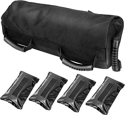E-More Gewichtheben Sandsack Oxford Stoff Krafttraining Power Bag Verstellbarer Gef/üllter Gewichtss