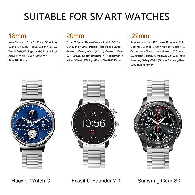 Fullmosa Compatible con Huawei Watch, Samsung Gear S2 Classic Gear ...