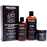 Brickell Men's Daily Advanced Face Care Routine I, Gel Facial Cleanser Wash, Face Scrub, Face Moisturizer Lotion, Natural and Organic, Unscented