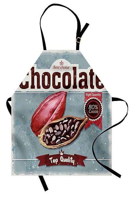 ABAKUHAUS Cacao Delantal de Cocina, Mejor Opcion Chocolate Retro ...