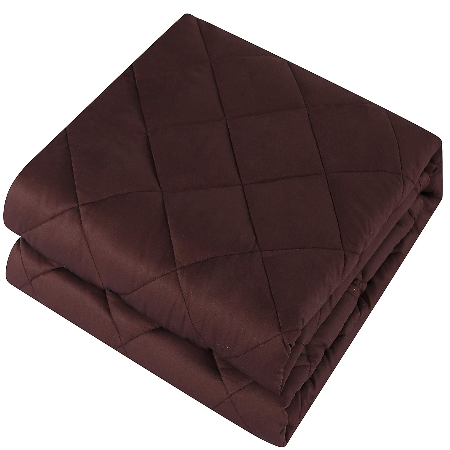 ,Heavy Blanket,100/% Cotton Material with Glass Beads 12 lbs, 48x72, Twin Size Weighted Blanket Pro for adult