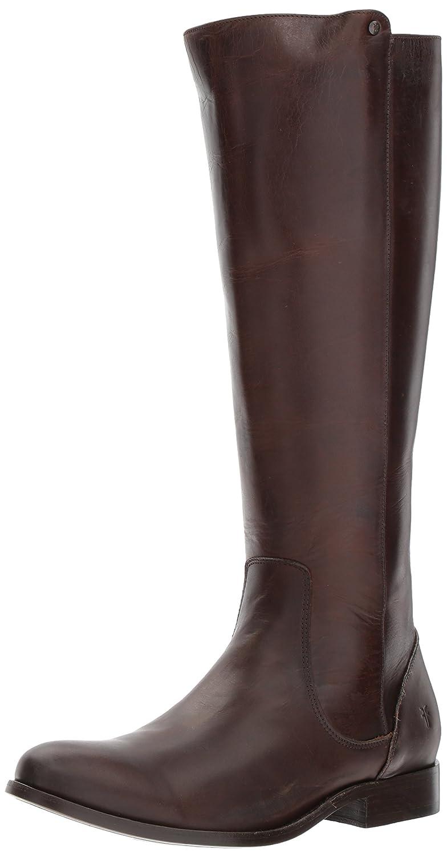 FRYE Women's Melissa Stud Back Zip Riding Boot B06WCZ3QVS 6.5 B(M) US Chocolate