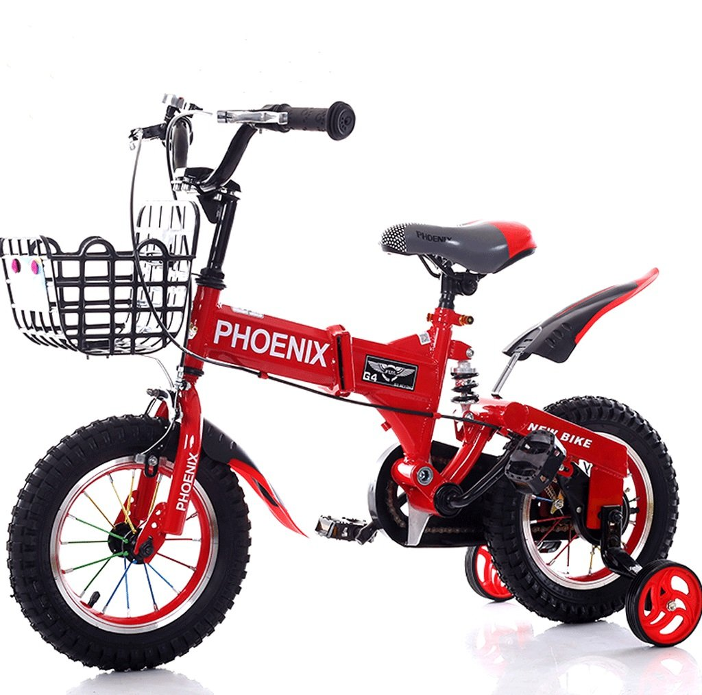 子供の自転車2-12歳の赤ん坊の子供の自転車の男性と女性のショックアブソーバーの赤ちゃんの車 (色 : 赤, サイズ さいず : 14 inches) B07D54RQ4G 14 inches|赤 赤 14 inches