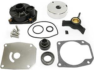 PumuHo Johnson Evinrude 40HP 50HP 438592 Water Pump Repair Kit Outboard Impeller With Housing Sierra 18-3454 433548 433549 777805 48/50 HP 2 Stroke 1989-1998