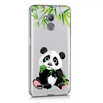 Funda ZTE Blade V7 Lite Panda comiendo bambú Mariposas Suave ...