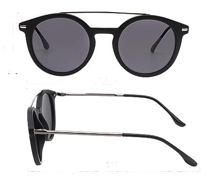 Amazon.com: Gafas de sol retro redondas polarizadas para ...