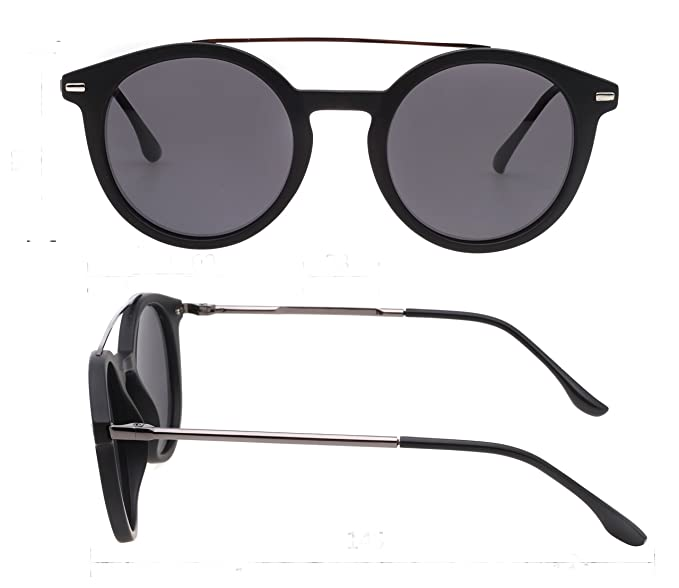 1de981692e5 Amazon.com  Retro Round Polarized Sunglasses for Women Men New Style ...