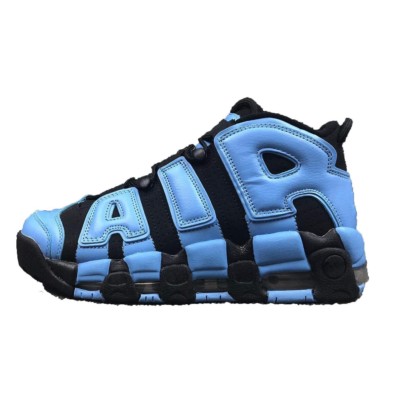 Air More '96 QS QS QS Homme Chaussures Basketball Fitness Femme Sneakers 40 EU|Noir et Bleu 845df8