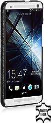 StilGut esclusiva cover posteriore in vera pelle per HTC One, nero