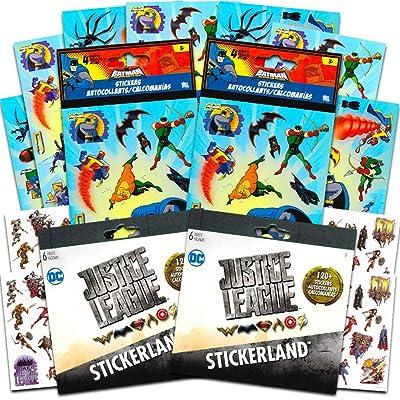 DC Comics Justice League Batman Stickers Set ~ Over 350 Stickers Featuring Batman, Robin, Aquaman and More (Ultimate Batman Set): Toys & Games