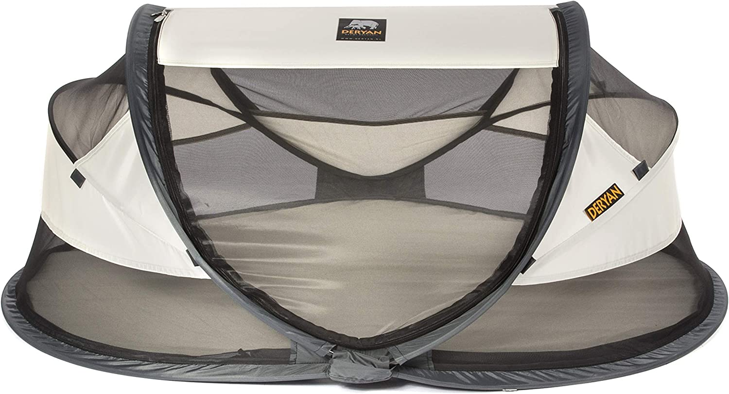 travel cot Baby Luxe travel tent including sleeping mat cream Deryan travel cot self-inflatable air mattress and carrying bag with pop-up built within 2 seconds