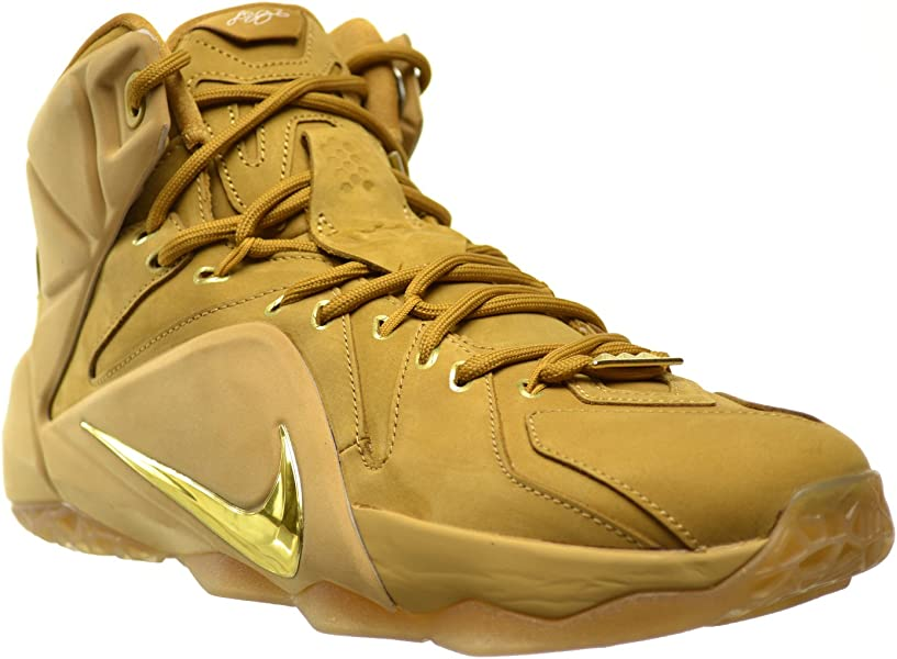 560d9265a47a5 Lebron XII EXT QS Men s Shoes Wheat Metallic Gold-Wheat 744287-700