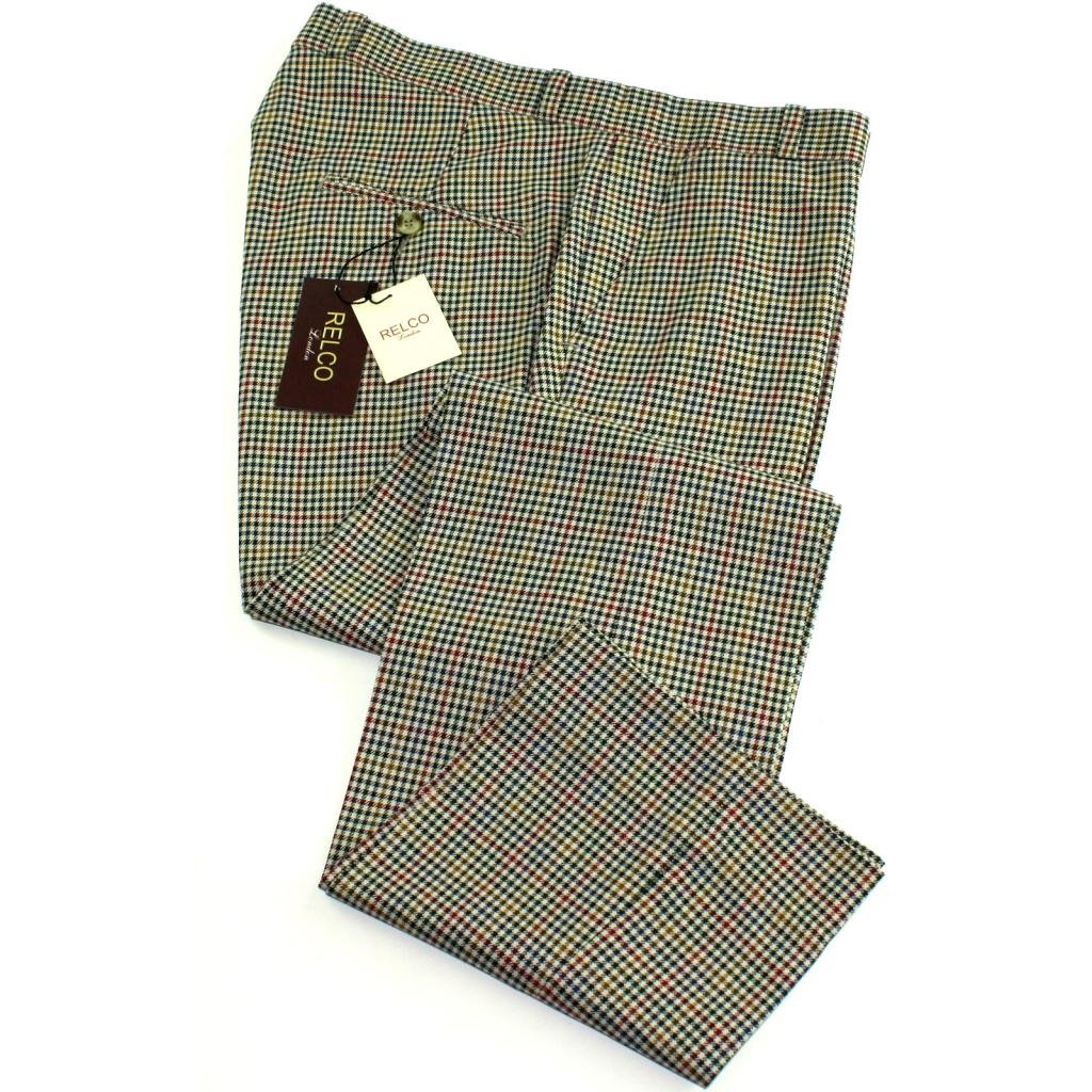 60s – 70s Mens Bell Bottom Jeans, Flares, Disco Pants Relco Mens Classic Multi Tweed Stay Press Trousers £34.99 AT vintagedancer.com