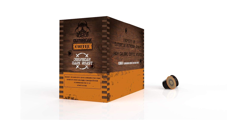 OUTBREAK COFFEE - KSM66 ASHWAGANDHA ENRICHED (Doomsday Dark Roast) 24 x