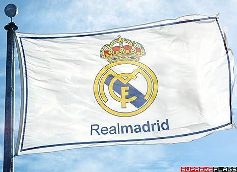 Bandera del Real Madrid 3 x 5 pies Blanco España Futbol Bandera ...