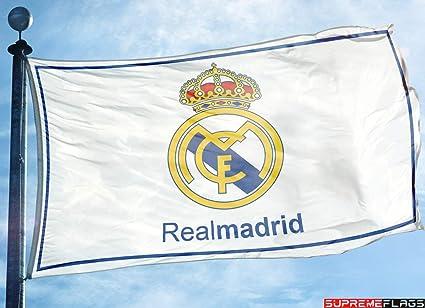 Amazon.com: Real Madrid Bandera Banner 3 x 5 ft blanco ...