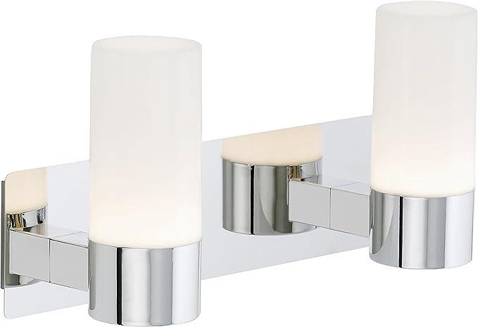 330 Lumen chrom IP44 Spiegelleuchte 5 Watt Briloner Leuchten LED-Badleuchte
