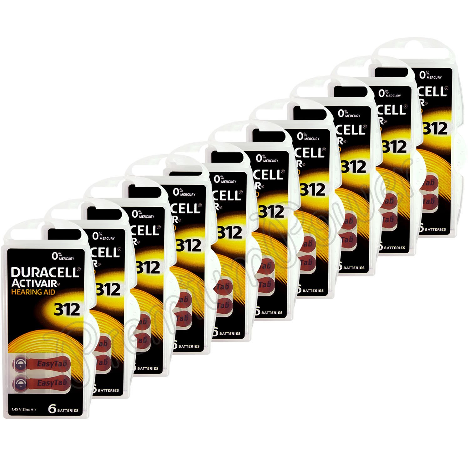Duracell Hearing Aid Batteries Size 312 pack 40 batteries ((3.Units)) by Duracell