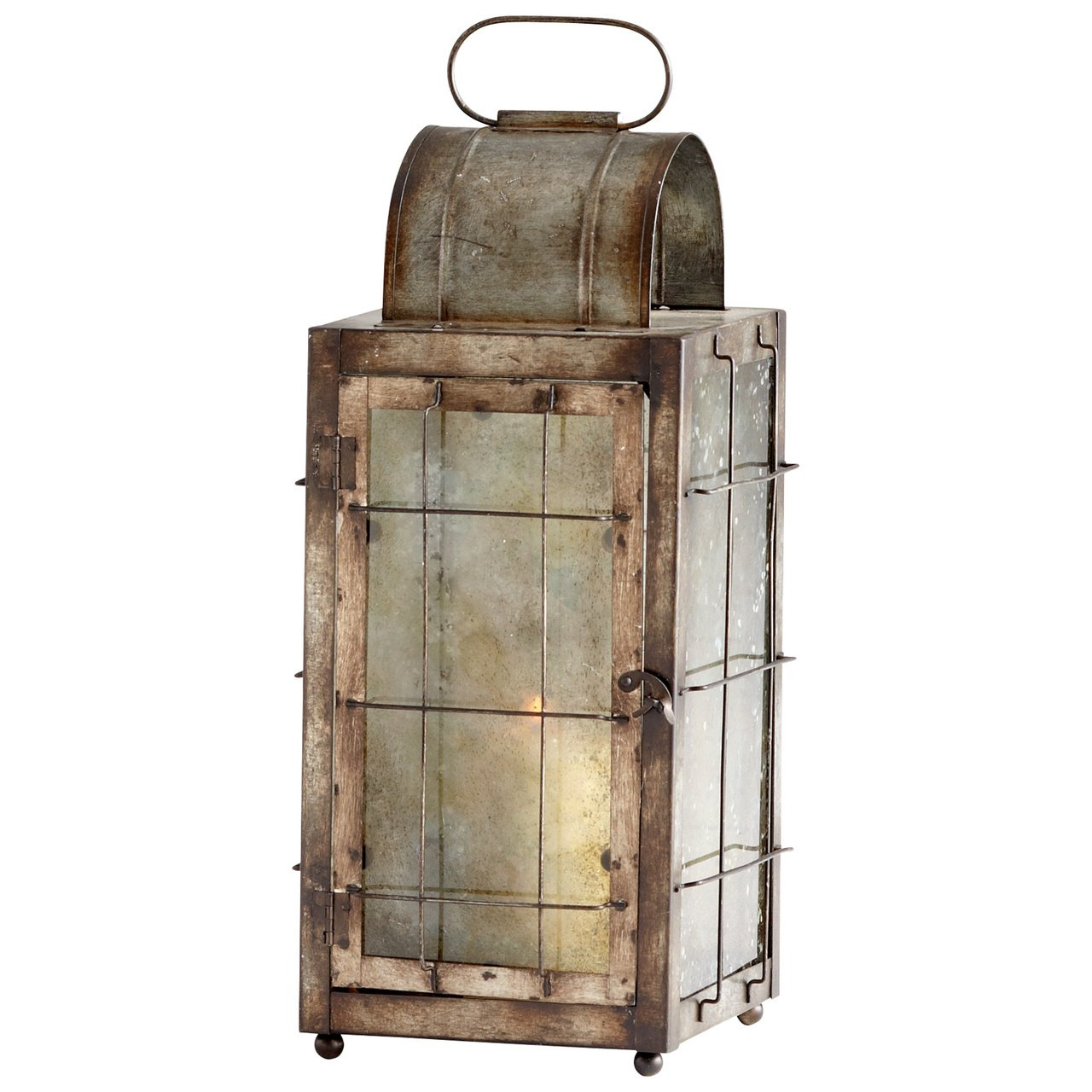 Cyan Design 05320 Old Timer Iron & Glass Lantern for Home, Office, or Spa, Rustic